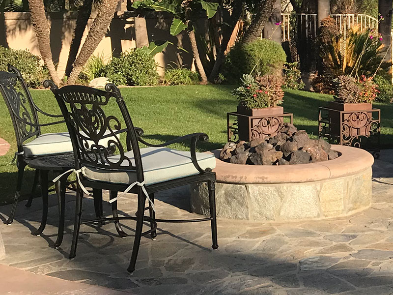 Outdoor Stone Fire Pits & Fire Elements