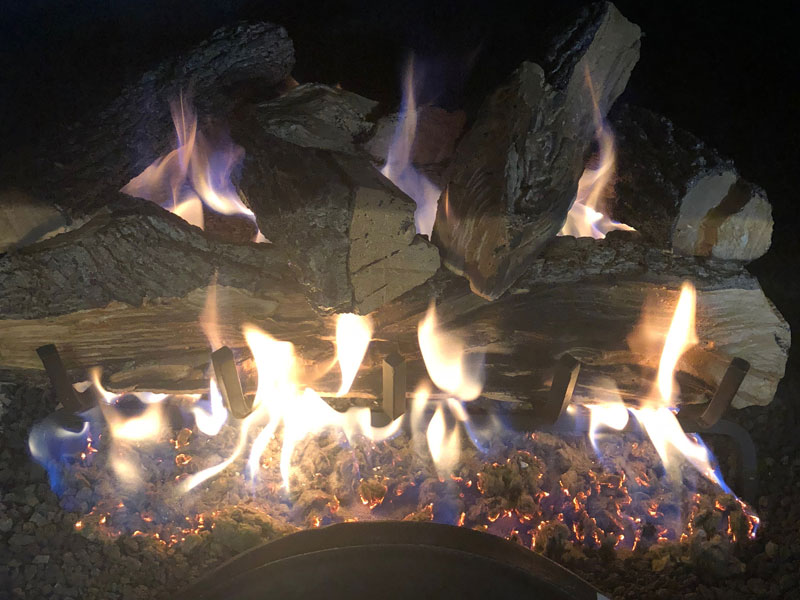 Real Fyre Gas Logs Ceramic Logs And Fire Glass Orange