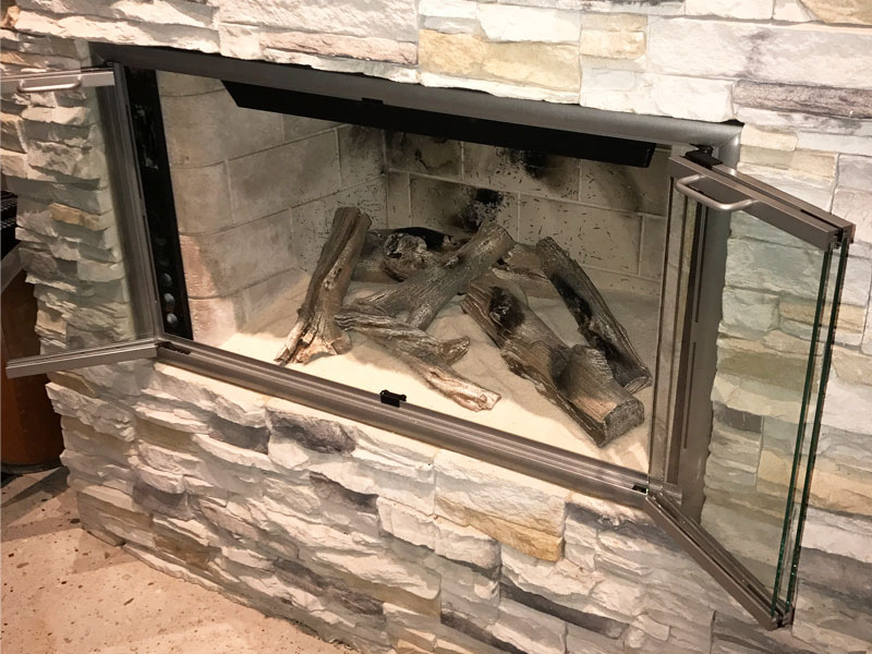 Remarkable Fireplace Glass Doors And Fire Screens Orange County Ca Home Interior And Landscaping Ponolsignezvosmurscom