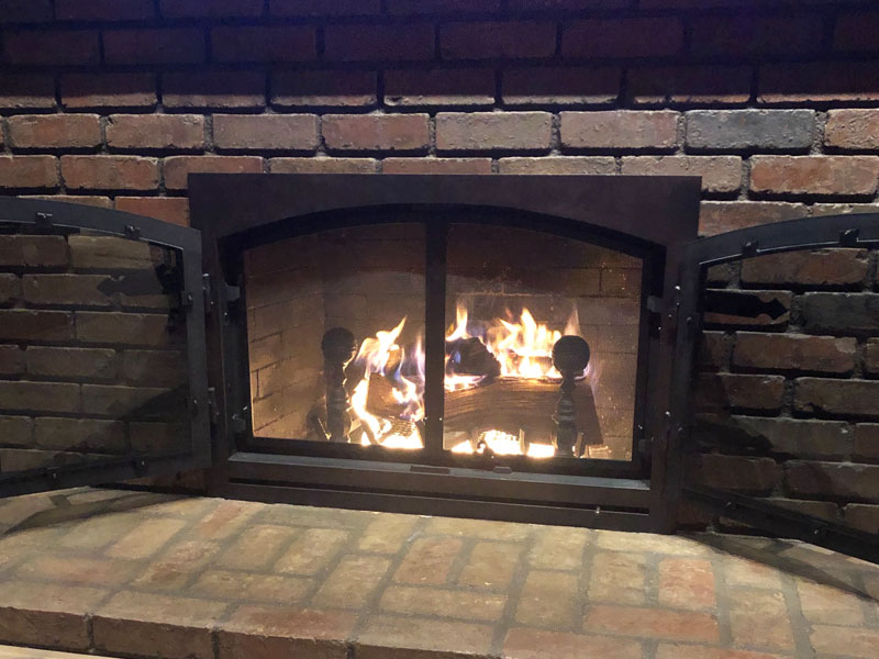 Awe Inspiring Fireplace Glass Doors And Fire Screens Orange County Ca Home Interior And Landscaping Ponolsignezvosmurscom