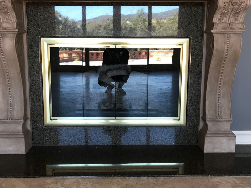 Commercial, Residential Fireplace Glass Doors & Fire Screen