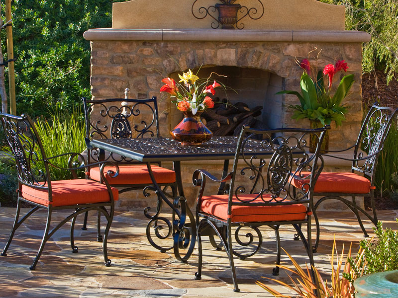 Orange County Wrought Iron Patio Furniture Sets