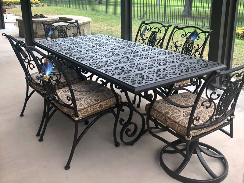 OW Lee Wrought Iron Patio Furniture Near Tustin